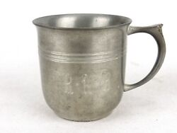 Vintage Pewter Child/baby Cup, Half Pint, Monogrammed R.a.b., Nantucket Pewter