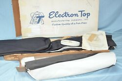 Nos 1957 1958 Dodge Plymouth Convertible Top And Rear Curtain Window White Vinyl