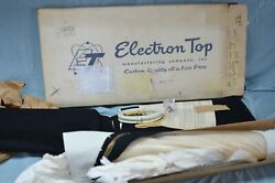 Nos 1957 1958 Plymouth Dodge Convertible Top And Rear Curtain Window White Vinyl