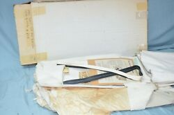 Nos 1955 1956 Dodge Plymouth Convertible Top And Rear Curtain Window Black Vinyl