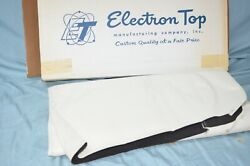 Nos 1971-1973 Ford Mustang Cougar Convertible Top Only No Window White Vinyl