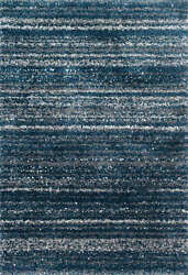 8and039 10 X 12and039 Loloi Rug Quincy Navy Pewter 100 Polypropylene Pile Hooked