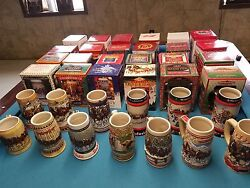 Budweiser Holiday Christmas Steins 1980-2019 Full Set New In Box 40 Steins 2018