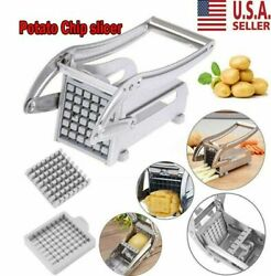 Kitchen Tool French Fry Cutter Vegetable Potato Chopper Slicer Dicer 2 Blades