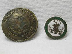 Green Mountain Vermont Guard Pin Insignia Badge Vtg Old National State Military