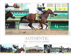 Authentic Kentucky Derby Race Horse Photo Poster 18 X 24 Coast Photography
