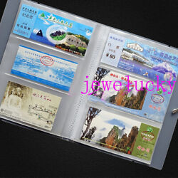 204 Pockets Album 34 Pages Double Sided 3pockets Holder Banknote Bill Collection