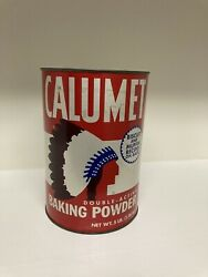Calumet Baking Powder 5 Pound Tin, Unopened With Contents.