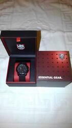Authentic Luminox Watch Blackout 3081 Navy Seals Color Mark Series Chronograph