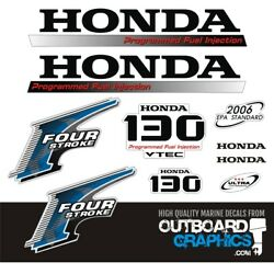 Honda Bf130hp 4 Stroke Outboard Engine Decals/sticker Kit
