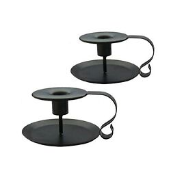 PRINTEMPS Wrought Iron Taper Candle Holder Black Candlestick Holders Candle...