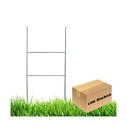 Mtb H Frame Wire Stakes 20 X10-inch Pkg Of 100 9ga Metal -yard Sign Stakes ...
