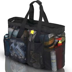 GOTDYA XL Mesh Beach Bags and Totes Extra Large Beach Bag with Zipper and Po... $24.40