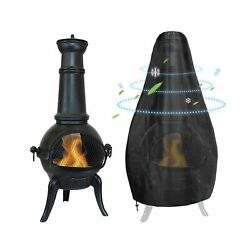 Gornorva Chiminea Cover Outdoor Waterproof Breathable Oxford Polyester Chimin...