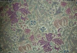 VINTAGE ANTIQUE TAPESTRY FABRIC 2 PIECES