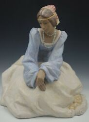 Lladro Memories Of Tuscany Huge 15 Lady Of Tuscany Sculpture Rare