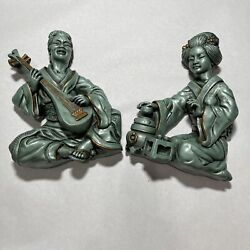 Vintage 1961 Universal Statuary Chicago Corp 22 Asian Sculpture Wall Hanger