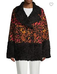 Missoni. Oversized Faux-fur And Virgin-wool Blend Print Jacket . Made In Italy.andnbsp