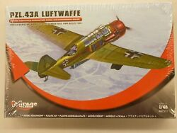 Mirage 1/48 Pzl.43a Luftwaffe Light Bomber And Recon Aircraft Model Kit 481311