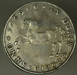 Brunswick Luneburg Calenberg Thaler 1669-lw Jumping Horse Xf+ Old Cleaning A2073