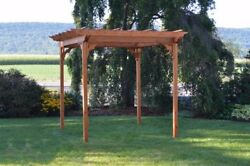 Aandl Furniture Co. Amish-made Cedar Pergola With Swing Hangers - 3 Size Options