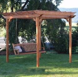 Aandl Furniture Co. Amish-made Cedar Pergola With 6and039 Porch Swing - 3 Size Options