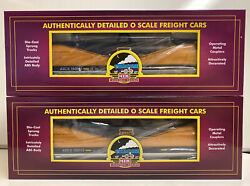 Mth Premier O Scale Set Of 2 Different Numbered Armco Steel Coil Cars 20-95402