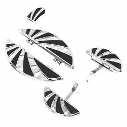 Chrome Floorboard Footrest Brake Pedal Pad Fit For Harley Touring 1993-2021 09