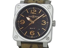 Bell And Ross Aviation Golden Heritage Br03-92 Ss Auto Menand039s Watcha51942