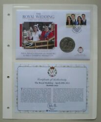 2011 William And Catherine The Royal Wedding 1 Dollar First Day Coin Cover Pnc