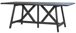 78 L Ralph Dining Table Black Washed Red Oak Wood Traditional