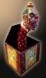 Jack Attack Resin Statue Demonic Toys Clown Jack In The Box Limited Edition