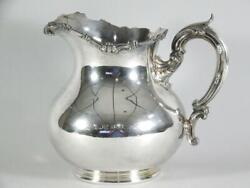 Heavy Sterling Silver Water Pitcher By Dominick And Haff - 31.5 Troy Oz - C.1888