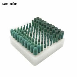 Rubber Mounted Point Od10-4mm Grinding Head For Mould Finish Polish 100 Pieces