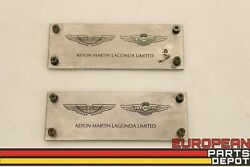 97-01 Aston Martin Db7 Coupe Front Left Right Lower Door Sill Logo Plaque Plate