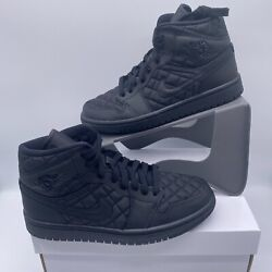 Nike Air Jordan 1 Mid Se Retro Black Quilted Db6078-001 Womenand039s Sizes 7-9