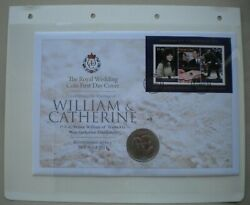2011 The Royal Wedding William And Catherine Proof 1 Dollar 1st Day Coin Cover Pnc