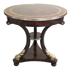 L47024ec Theodore Alexander Althorp 50174 Round Mahogany Occasional Table New