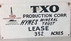 Txo Oilwell Lease Sign Texas Oil And Gas Not Porcelain 12andrdquo X 24andrdquo