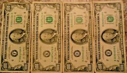 1977 And 1981 100 United States Federal Reserve Notes Lot Of Four Notes
