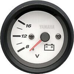 Yamaha Pro Series Ii Voltage Meter White Face 6y7-83503-10-00 New