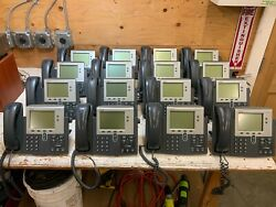 Lot Of 16 - Cisco Cp-7942g Unified Ip Phone 7942 Voip Business Phones