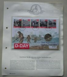 1994 D-day 50th Anniversary First Day Cover 50p Coin Cover Pnc,stamps,andpostmarks