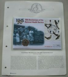 1998 Nhs 50th Anniversary First Day Cover 50p Coin Cover Pnc,stamps,and Postmark