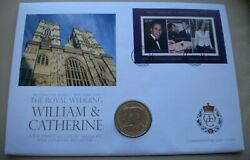2010 William And Catherine - Royal Wedding - 29th April 2011 Andpound2 Coin Cover Pnc