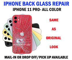 Iphone 11/i11 Pro Cracked Back Glass Replacement Service Glendale Heights Ill