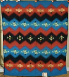 Vintage 40's Beacon Mills Camp Blanket, Mint Cond. Vibrant Colors And Label