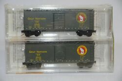 N Scale 2-pack Gn 40' Single Door Boxcar - Gn 2510 And 2528 - Micro-trains 20406-2