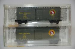 N Scale 2-pack Gn 40' Single Door Boxcar - Gn 2505 And 2538 - Micro-trains 20406-2