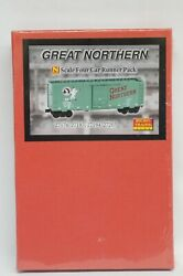 N Scale Micro-trains Line Mtl 99300095 - Gn 40 Boxcar, Single Door - 4 Cars